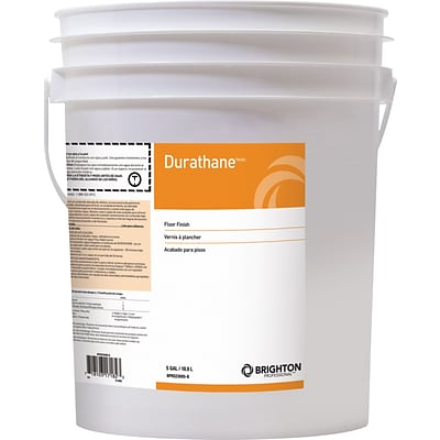 Brighton Professional™ Durathane™ Floor Care High-Gloss Floor Finish 24% Solids, 5 Gallon, Pail