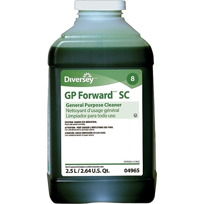 Diversey™ GP Forward™ All Purpose Concentrated Liquid Cleaner, J-Fill®,Citrus Scent,2.5 Liters, 2/Ct