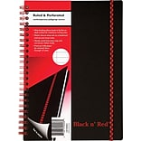 Black N Red 5-7/8x8-1/4 Narrow Book