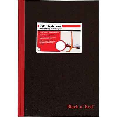 Black N Red™ Ruled Notebook 8-1/4x11-3/4, Legal Ruling, White, 96 Sheets/Pad