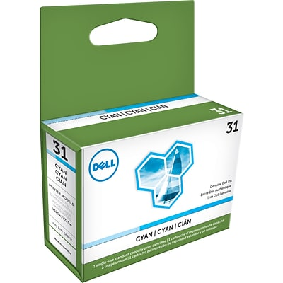 Dell Series 31 Cyan Ink Cartridge, (6M9DD)