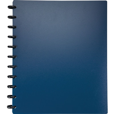 Arc Customizable Durable Poly Notebook System, Blue, 9-3/8 x 11-1/4