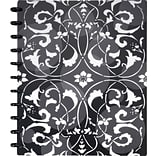 Arc Customizable Flower Circle Design Notebook System, Black & White, 9-3/8 x 11-1/4