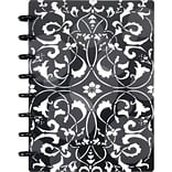 Arc Customizable Flower Circle Design Notebook System, Black & White, 6-3/8 x 8-3/4