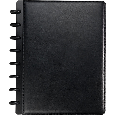 Arc Customizable Leather Notebook System, Black, 6-3/4 x 8-3/4