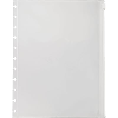 Arc System Poly Zip Pockets, Clear, 8-1/2 x 11