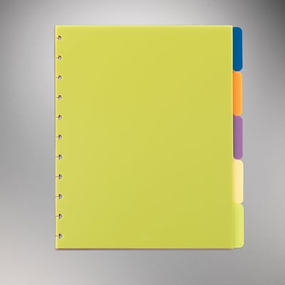 Arc System Tab Dividers, Assorted Colors, 9x11