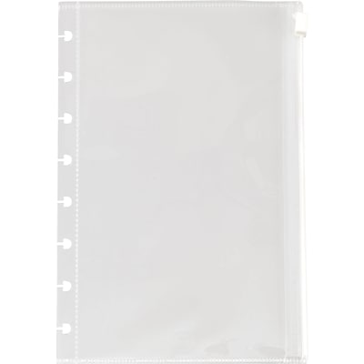 Arc System Poly Zip Pockets, Clear, 5-1/2 x 8-1/2