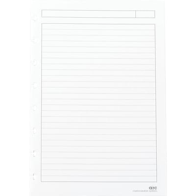 Arc System Ruled Premium Refill Paper, White, 5-1/2 x 8-1/2