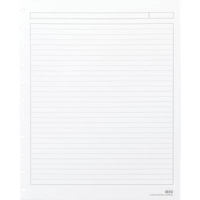 Arc System Ruled Premium Refill Paper, White, 8 1/2 x 11