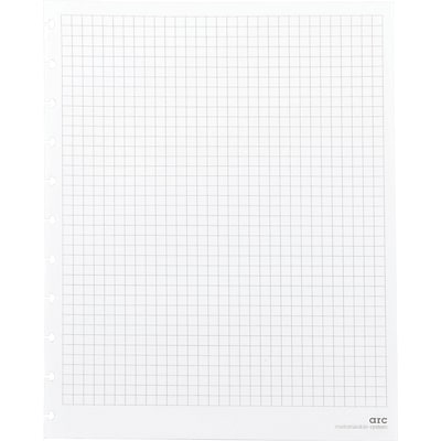 Arc System Graph-Ruled Premium Refill Paper, White, 8-1/2 x 11