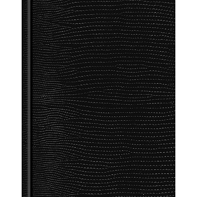 Blueline® Executive Business Journal, Black Lizard Look Hardbound Cover, 150 Pages / 75 Sheets, 9-1/4 x 7-1/4