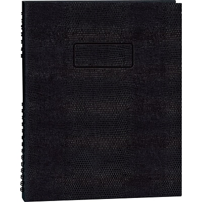 Blueline NotePro Business Notebook, Black Hard Lizard Look Cover, Twin-Wire Binding, 200 Pages / 100 Sheets, 11 x 8-1/2