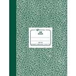 National® Lab Notebook, Hard Cover, Green, 7-7/8 x 10-1/8, 96 Sheets