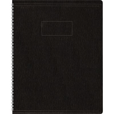 Blueline Ecologix Recycled Business Notebook, Flexible Black Soft Cover, Twin Wire, 160 Pages / 80 Sheets, 11 x 8-1/2