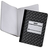 EarthWise® Recycled Composition Notebook, Black, 9-3/4 x 7-1/2