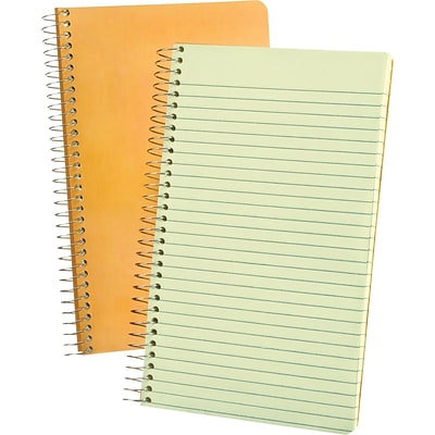 Ampad® Evidence® Notebook 5x8, Narrow Ruling, Green, 80 Sheets/Pad
