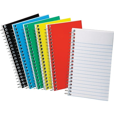 Ampad® Pocket Size Memo Notebook 3x5, Narrow Ruling, White, 50 Sheets/Pad, Side Open