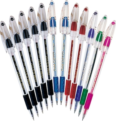 Pentel R.S.V.P. Ballpoint Pens, Medium Point, Assorted, Dozen