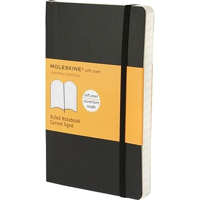 Moleskine Classic 1-Subject Professional Notebook, 3.5 x 5.5, College Ruled, 96 Sheets, Black (QP611F)