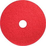 Brighton Professional™ Floor Buffer Pads, 20, Red, 5/Carton