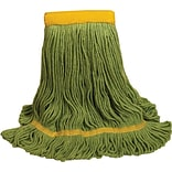 ODell® Recycled PET Mop Head, 5 Headband, Green