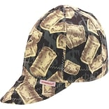 7-1/4 Asst. Print Deep Rnd. Crown Cap