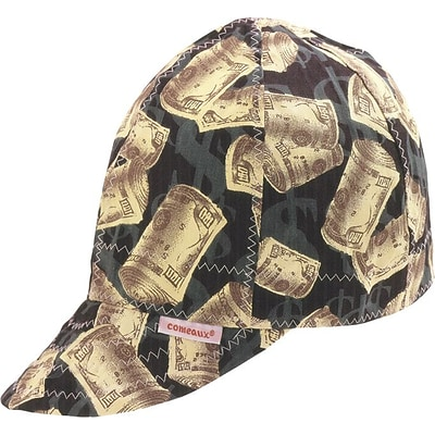 Comeaux® Deep Round Crown Caps, Assorted Prints, Size 7 1/2