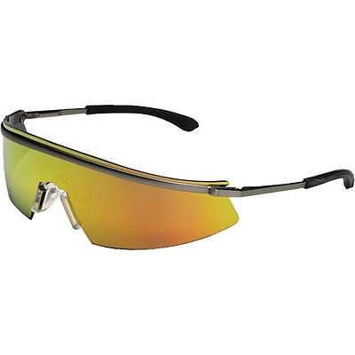 MCR Safety ANSI Z87.1 Triwear® Safety Glasses, Indoor/Outdoor Clear Mirror