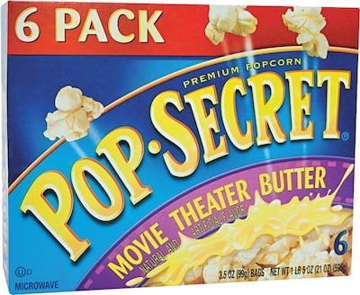 Pop Secret Microwave Popcorn, Movie Theater Butter,