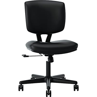 HON Volt® Task Chair, Leather, Black, Seat: 18 1/2W x 18 3/4D, Back: 17 1/4W x 18 3/4H NEXT2017 NEXT2Day
