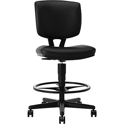 HON® Volt® Task Stool, SofThread Leather, Black, Seat: 19W x 18D, Back: 16 1/2W x 20- 20H NEXT2017 NEXT2Day