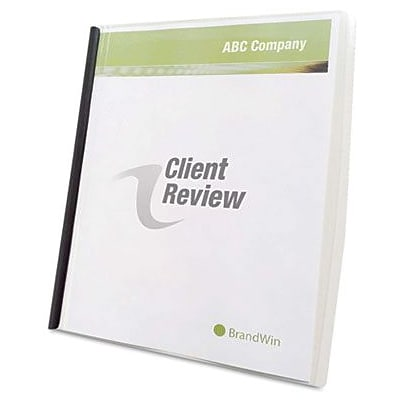 GBC Slide n Bind Report Cover, Letter Size, Clear, 10/Bx