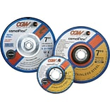 CGW Abrasives Depressed Center Wheels- 1/4 Grinding, Type 27, 4-1/2 X 1/4 X 7/8