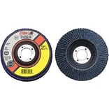 CGW Abrasives® Flap Discs, Z3 -100% Zirconia, Regular, 40 Grit, 4 Diameter