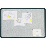 Quartet® Contour® Granite Bulletin Board, Black Frame, 24W x 18H
