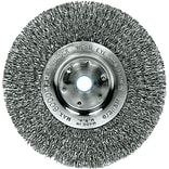 Weiler® Trulock™ Narrow-Face Crimped Wire Wheels, Wire Material Steel, 6 Diameter (804-01075)