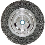 Weiler® Bench Grinder Wheels, Medium Face Wheel, Wire Material Steel, 6 Diameter