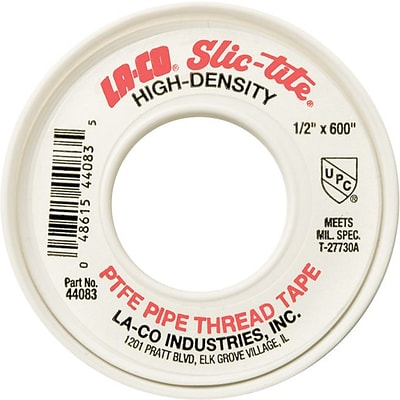 Markal® Slic-Tite® PTFE Thread Tapes, White, 300 X 1/2 in