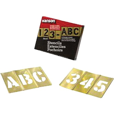 C.H. Hanson® Brass Stencil Letter & Number Sets, 2 in, 77 PC