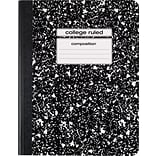 Staples® Composition Notebook, College Ruled, Black, 9-3/4 x 7-1/2, Each (40451M-CC)