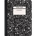 Staples 9-3/4x7-1/2 Black Comp Notebook
