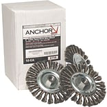Anchor Brand  Standard Twist Knot Wheel, Carbon Steel, Knot Wire Size 0.0230, 6 Diam.