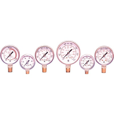 Ametek® Welding & Compressed Gas Gauge, 400 psi, 1 1/2 Dia.