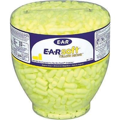 3M™ E-A-R™ One Touch™ Earplugs, Uncorded, Yellow, 33dB, 500/Bottle