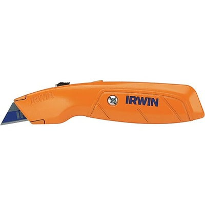 Irwin® Hi- Vis Retractable Utility Knife, Orange