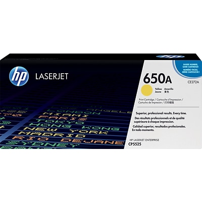 HP 650A Yellow Toner Cartridge (CE272A)