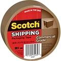 Scotch® Commercial Grade Shipping Packing Tape; 1.88 x 54.6 yds, Tan, 1/Pack
