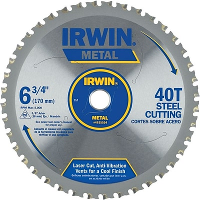 Irwin® Tools® Metal Cutting Saw Blade, Ferrous Steel,  7-1/4,  48TPI