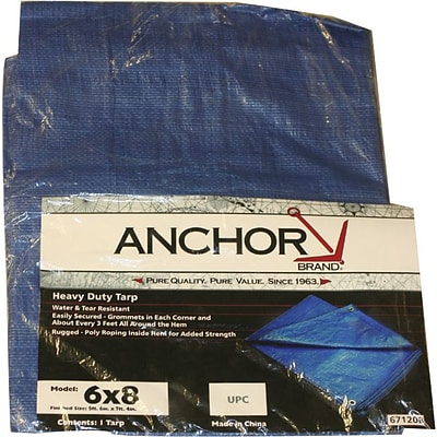 Anchor Brand Multi Use Tarpaulin Polyethylene, Tarp, 16 X 20